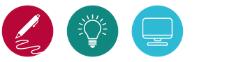 Icons: Kreatives Schreiben, Schreiben in Schule und Studium, Schreiben im Job