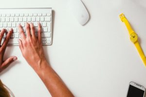 Freewriting am Computer mit Tastatur