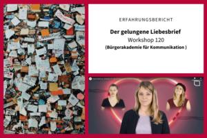 Erfahrungsbericht zum Workshop Liebesbrief schreiben Bürgerakademie