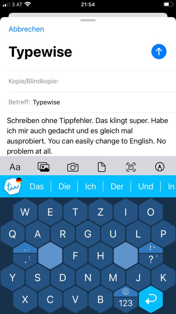 Typewise Tastatur für das Smartphone, schneller fehlerfrei tippen, Erfahrungsbericht, Treffpunkt Schreiben
