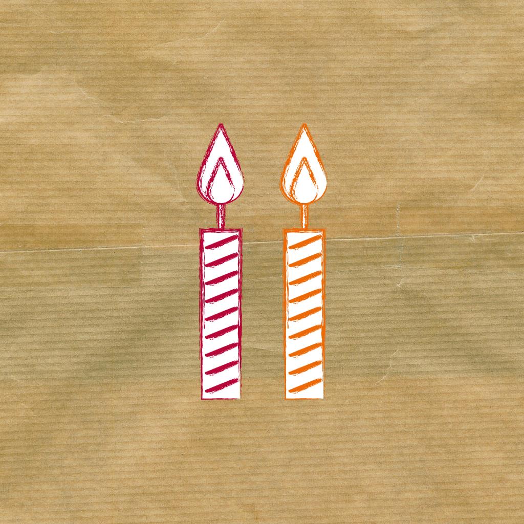 Treffpunkt Schreiben, 2. Geburtstag, 2 Kerzen auf dem Kuchen